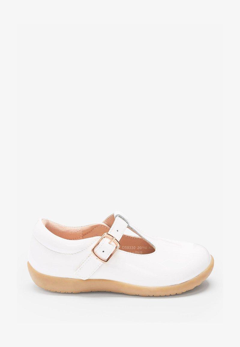 Next - Ankle strap ballet pumps - off-white