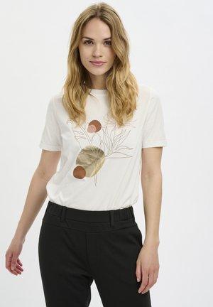 BPCILONA  - T-shirt imprimé - chalk