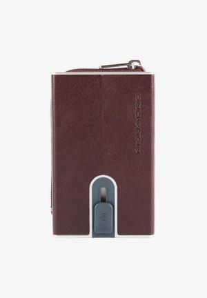 Business card holder - dark brown