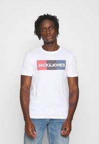 Jack & Jones - JJECORP LOGO TEE O-NECK - Print T-shirt - white - 0