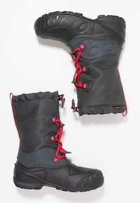 Jack Wolfskin - ICELAND TEXAPORE HIGH - Zimní obuv - black/red - 0