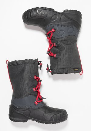 ICELAND TEXAPORE HIGH - Winter boots - black/red