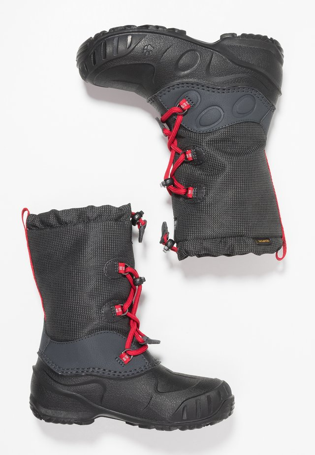 ICELAND TEXAPORE HIGH - Bottes de neige - black/red