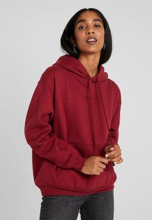 UNBASIC HOODIE - Bluza z kapturem - warm cabernet