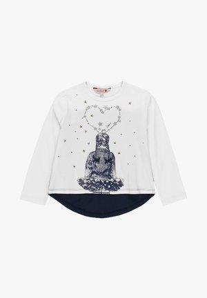 """GESTRICKT """"STERNE"""" FÜR MÄDCHEN - Print T-shirt - white"""