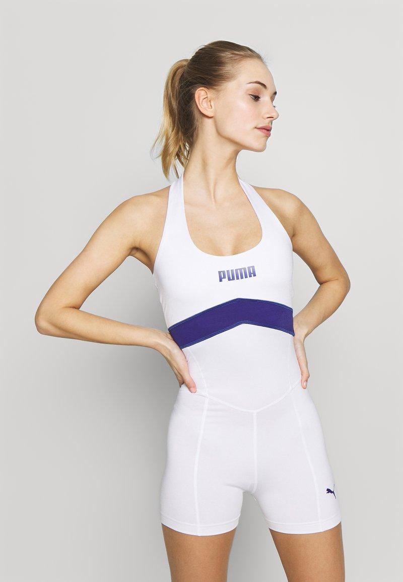 Puma - NEON BRIGHTS ACTIVE BODYSUIT - cvičební overal - white