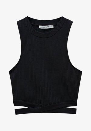 Top - mottled black