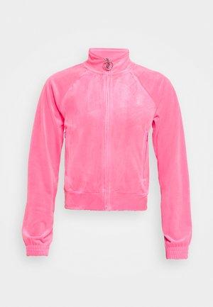 TANYA TRACK - Zip-up sweatshirt - fluro pink