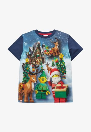 CHRISTMAS LEGO  - Print T-shirt - blue