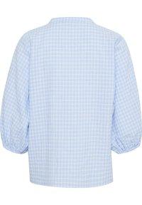 Kaffe - Button-down blouse - light blue check - 4