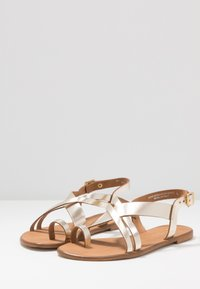 Office Wide Fit - SERIOUS - T-bar sandals - gold - 4