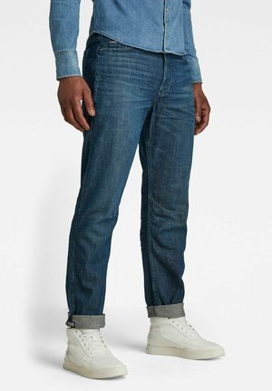 A-STAQ - Straight leg jeans - dark blue denim
