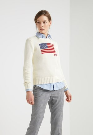 FLAG - Strickpullover - cream/multi