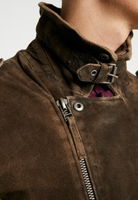 Freaky Nation - ELECTRIC MAN - Leather jacket - olive - 3
