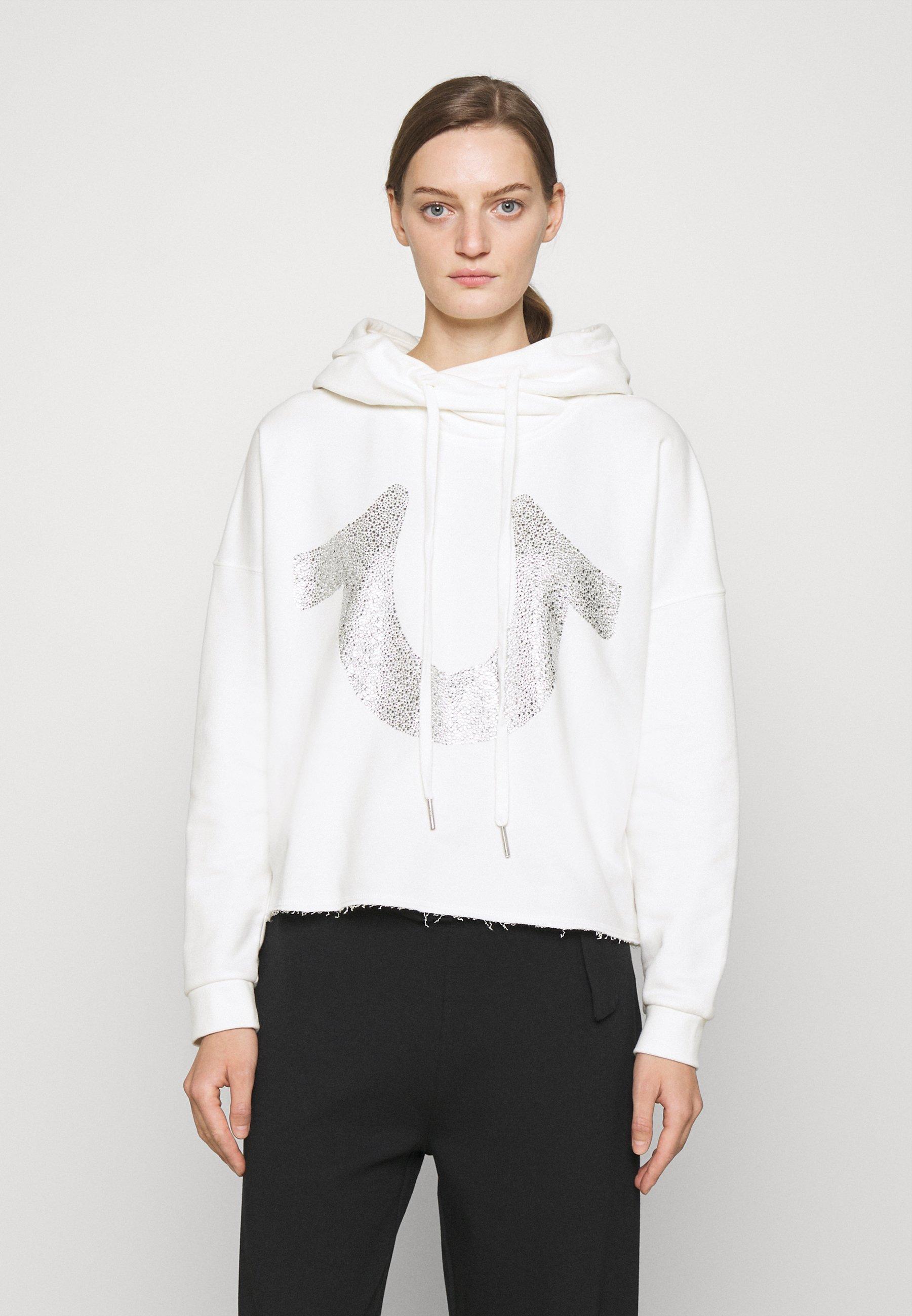 Women HOODY CROP BOXY HORSESHOE  - Sweatshirt