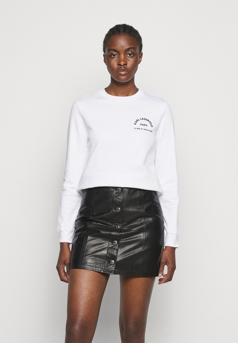 KARL LAGERFELD - ADDRESS LOGO - Sweatshirt - white