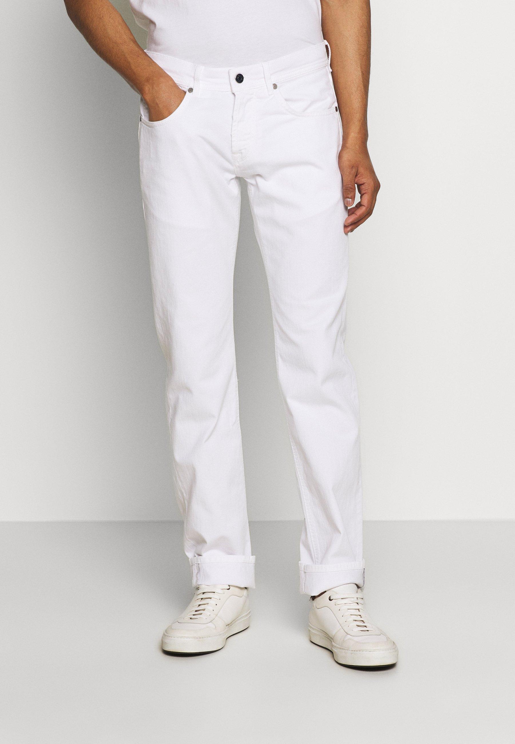 Baldessarini JACK - Straight leg jeans - white Denim