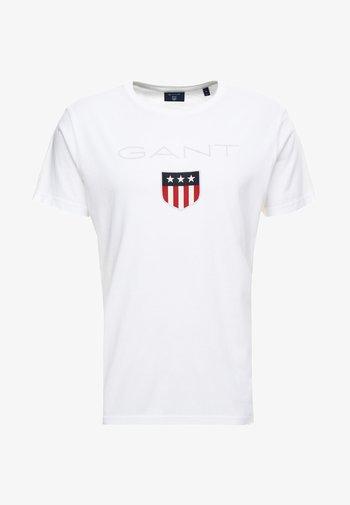 SHIELD - T-shirt med print - white