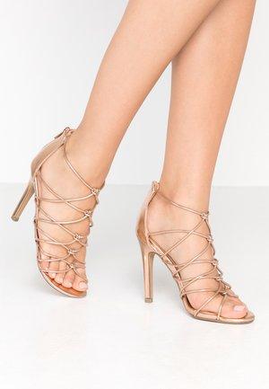 TOTTY - Sandaler med høye hæler - rose gold