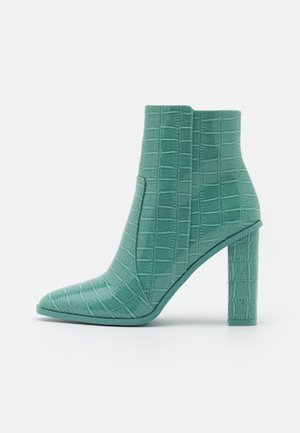 CINDY  - High heeled ankle boots - turquoise