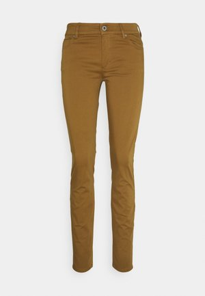 5 POCKET MID WAIST SLIM LEG - Trousers - camel
