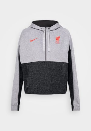 FC LIVERPOOL DRY HOODIE - Club wear - dark grey heather/black/laser crimson