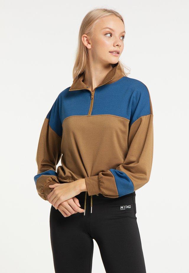 Sweatshirt - braun blau
