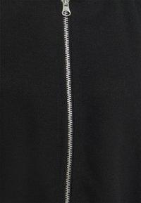 Even&Odd - Ribbed zip though hooded sweat jacket - Tröja med dragkedja - black - 4