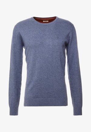BASIC CREW NECK - Sweter - vintage indigo blue melange
