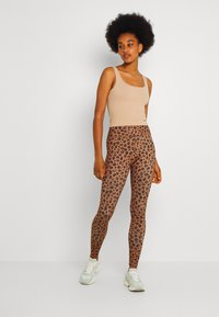 Never Fully Dressed - LEOPARD - Leggings - Trousers - brown - 1