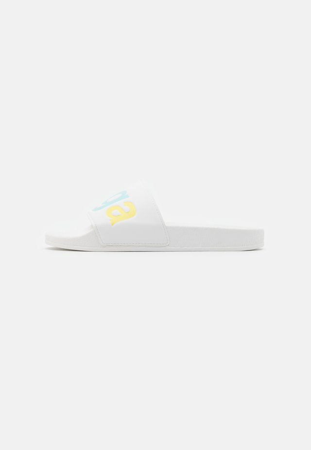 SLIDES  - Mules - white/multicolor