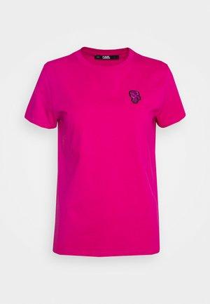 MINI IKONIK KARL PATCH - T-shirt med print - pink