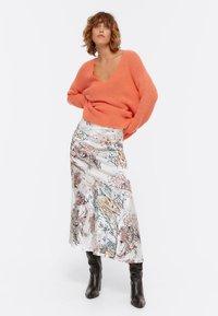 Uterqüe - A-line skirt - beige - 1