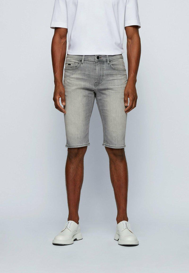 BOSS - Denim shorts - light grey
