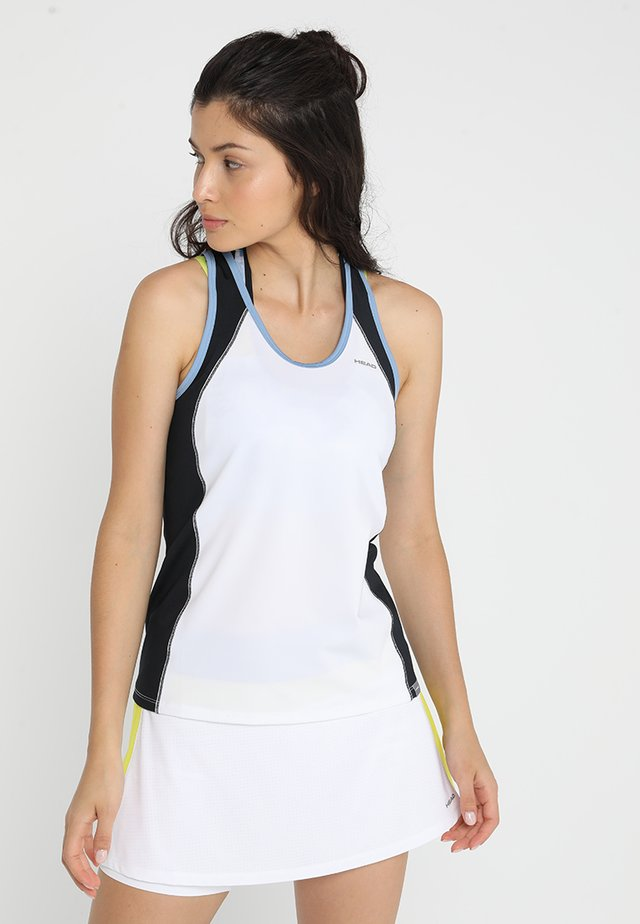 TALIA TANK - Toppi - white/yellow