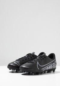 Nike Performance - MERCURIAL JR VAPOR 13 CLUB FG/MG UNISEX - Moulded stud football boots - black/metallic cool grey/cool grey - 3
