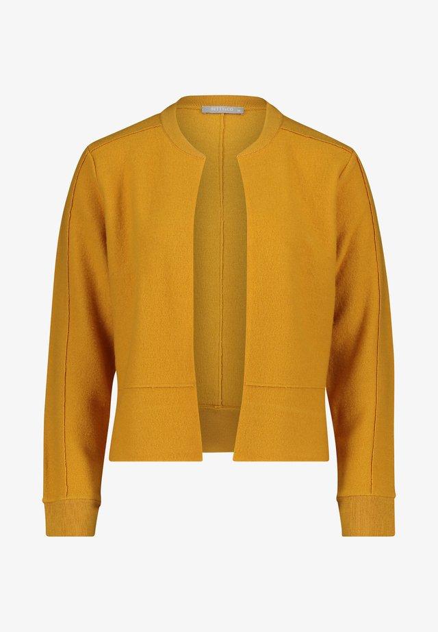 MIT RIPPBÜNDCHEN - Blazer - mineral yellow