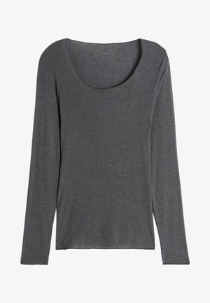 LANGARMSHIRT AUS CASHMERE ULTRALIGHT - Long sleeved top - dark grey mel