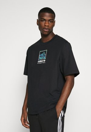 SPORTS INSPIRED LOOSE SHORT SLEEVE TEE - Triko s potiskem - black