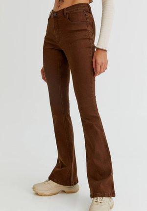 Jeans bootcut - mottled light brown