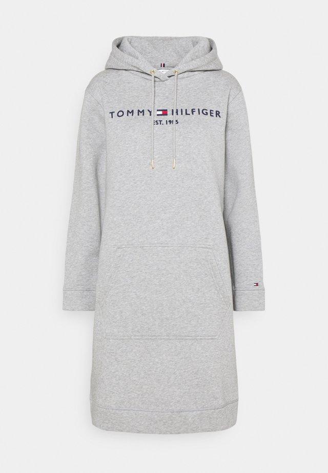 HOODIE DRESS - Denní šaty - light grey heather