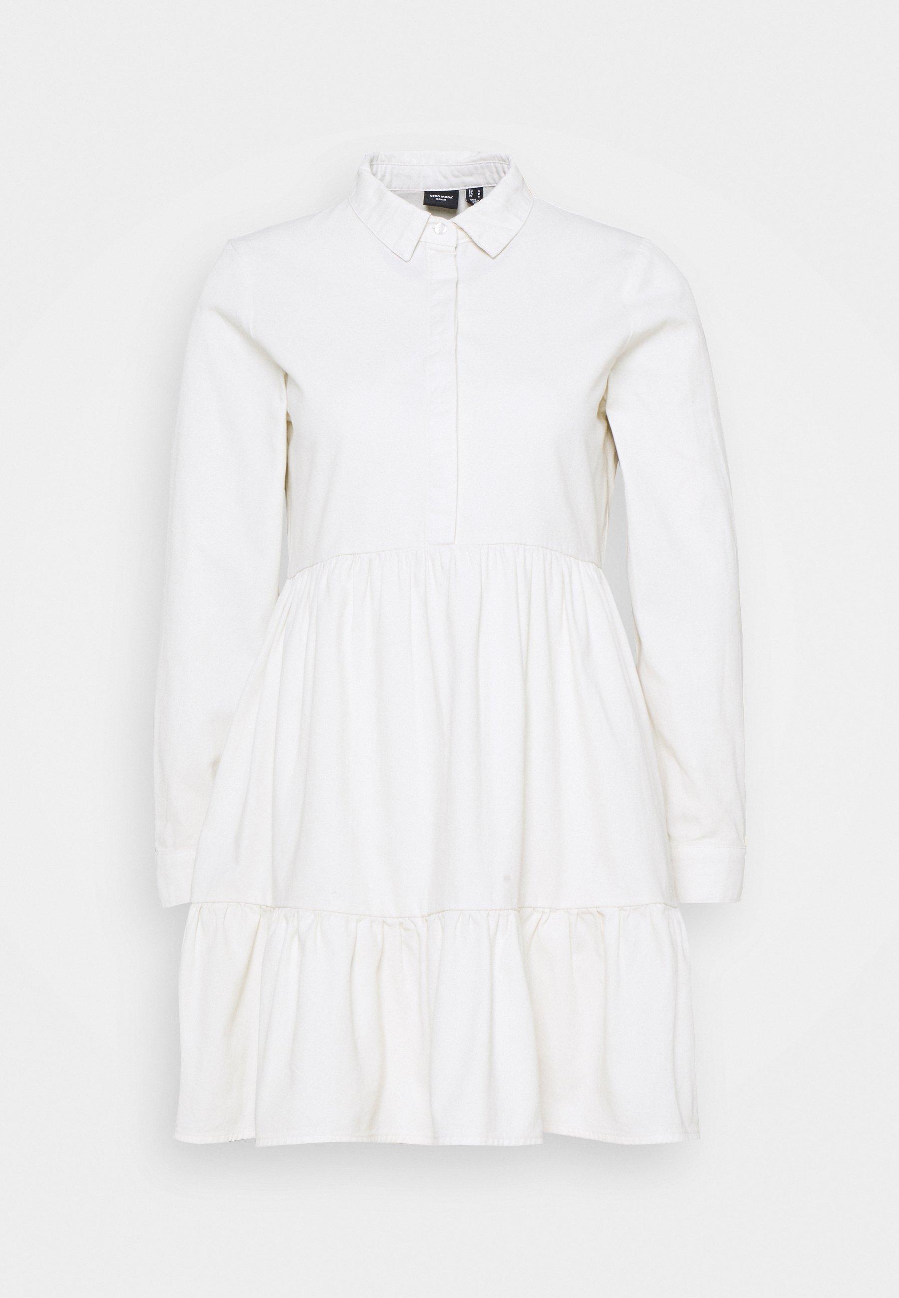 Women VMMARIA FRILL SHORT DRESS - Shirt dress