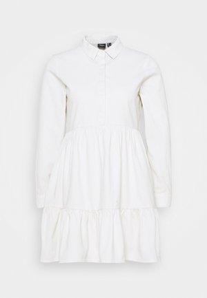 VMMARIA FRILL SHORT DRESS - Shirt dress - cloud dancer