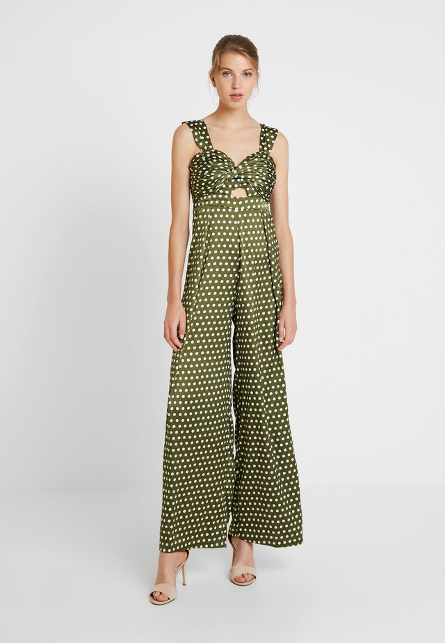 SPOT - Jumpsuit - green/white