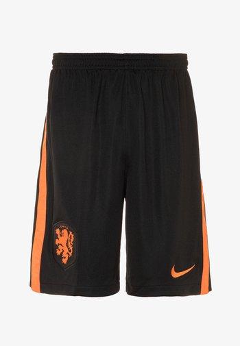 NIEDERLANDE - Sports shorts - black/safety orange