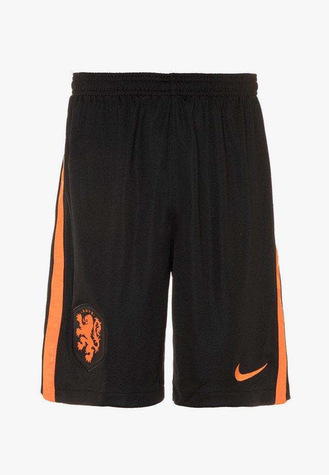NIEDERLANDE - Korte broeken - black/safety orange