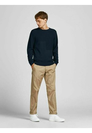 STRUKTURIERT - Stickad tröja - navy blazer