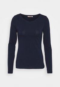 Anna Field - 2 PACK - Maglietta a manica lunga - dark blue/mottled light grey - 1