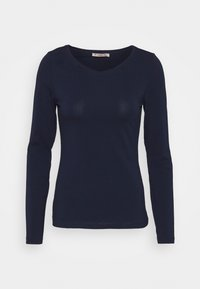 Anna Field - 2 PACK - Langærmede T-shirts - dark blue/mottled light grey - 1