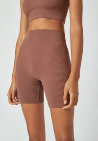 PULL&BEAR - Shorts - dark brown - 4